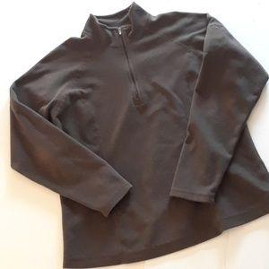 LL Bean Lightweight Fleece Pullover Brown Size M